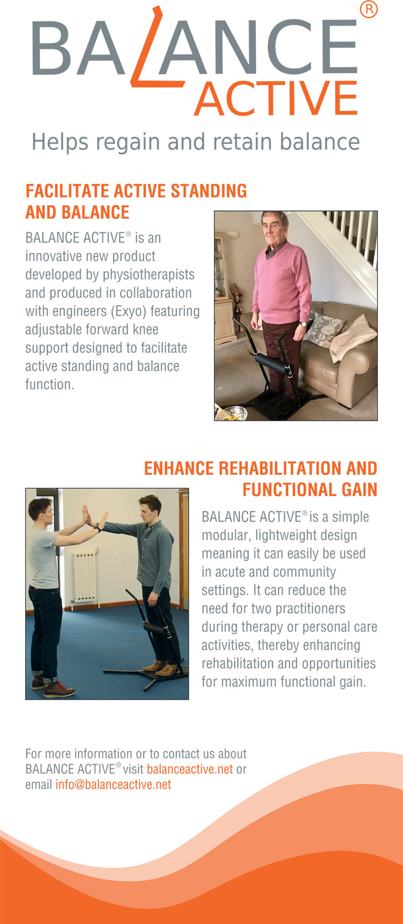 Balance Active physiotherapy and rehabilitation equipment poster