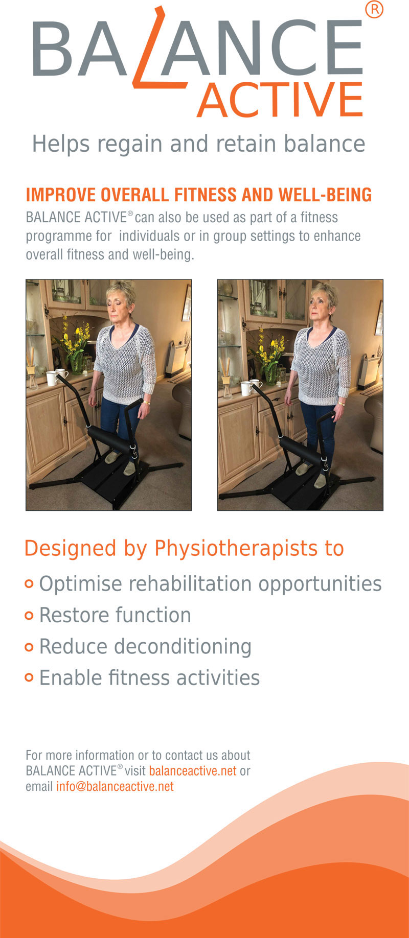 Balance Active physiotherapy and rehabilitation equipment poster 2