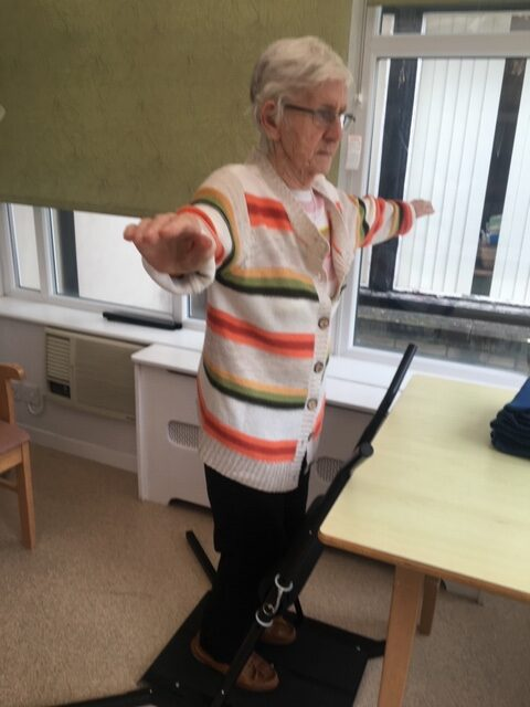 Mrs BW using Balance Active to help with her balance